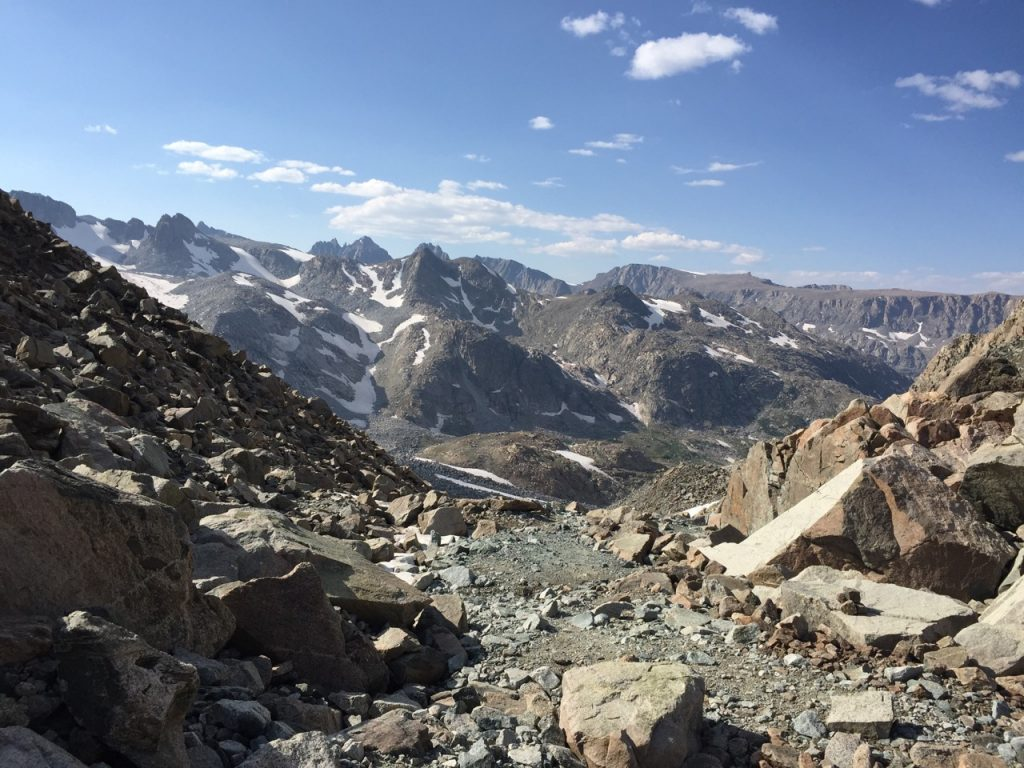 Wind River High Route - Top of Alpine Lakes Pass Looking South