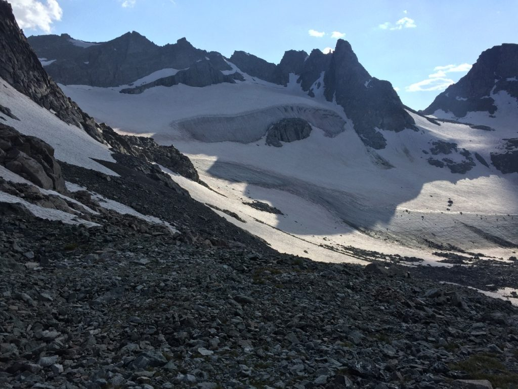 Wind River High Route - Gannet Peak from Alpine Lakes Pass