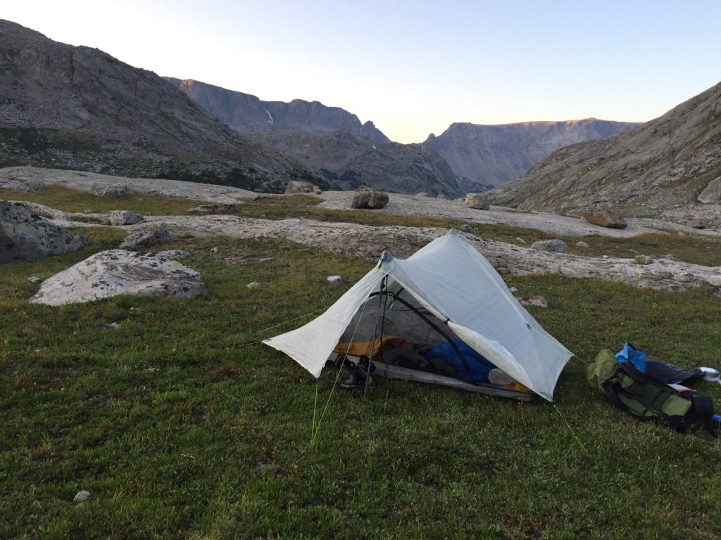 Wind River High Route - Camp Below Knife Point Glacier