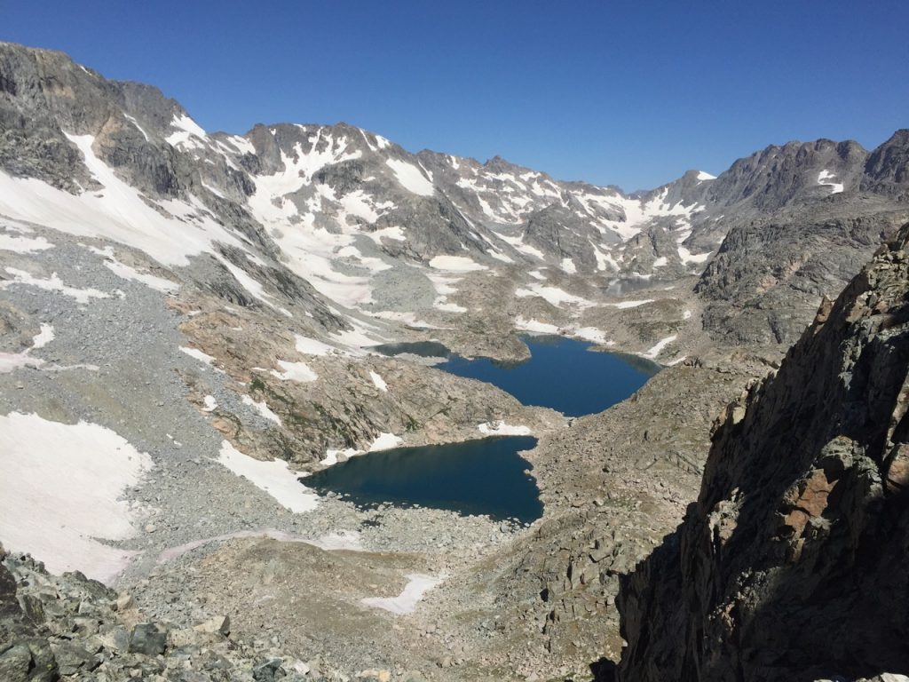 Wind River High Route - Alpine Lakes Viewed from Douglas Pass