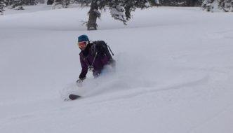 Skiing on Taylor Mountain